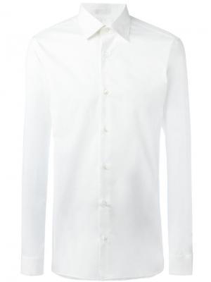 Классическая рубашка Z Zegna. Цвет: белый