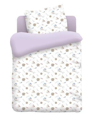 Комплект постельного белья детский бязь Птенцы Непоседа. Цвет: белый