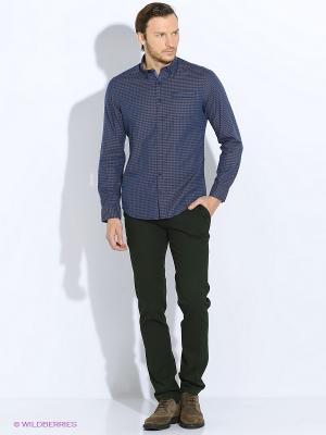 Рубашка Men of all nations. Цвет: темно-синий, серый