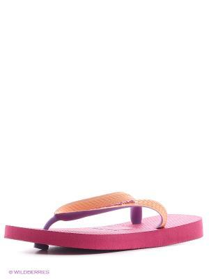 Шлепанцы Havaianas. Цвет: розовый, желтый
