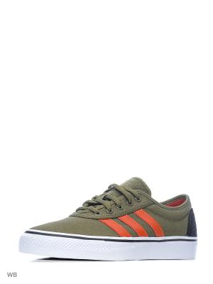 Кеды ADI-EASE  OLICAR/CRACHI/FTWWHT Adidas. Цвет: хаки, оранжевый