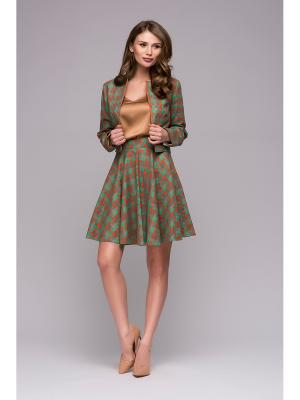 Костюм 1001 DRESS. Цвет: зеленый,серый,рыжий