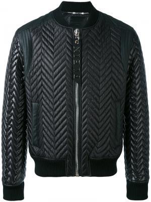 Куртка-бомбер Lucky Philipp Plein. Цвет: чёрный