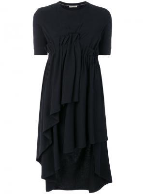 Ярусное асимметричное платье Each X Other. Цвет: чёрный