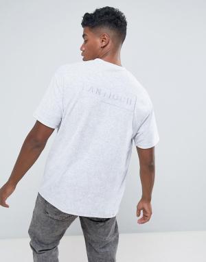 Antioch Свободная махровая футболка. Цвет: серый