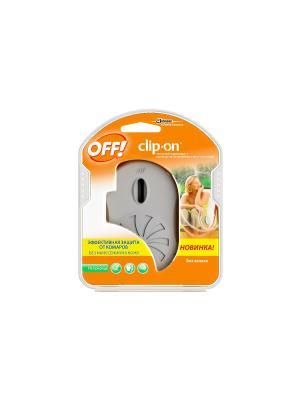 Прибор с фен-системой и сменным картриджем Clip-On 100 мл OFF!. Цвет: оранжевый