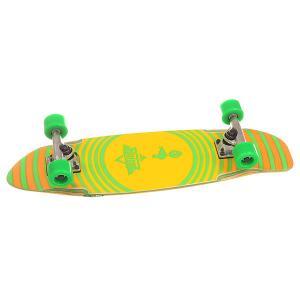 Скейт мини круизер  Bird Cruiser Kryptonics Green 7.5 x 27 (68.6 см) Dusters. Цвет: желтый,зеленый