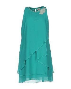 Короткое платье CASTING. Цвет: бирюзовый