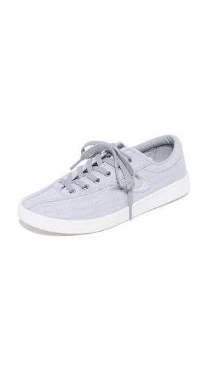 Льняные кроссовки Nylite Plus Tretorn. Цвет: серый мульти/серый мульти/серебристый