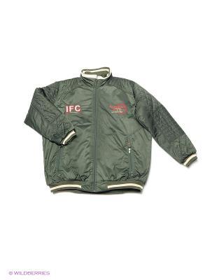 Куртка IFC. Цвет: зеленый