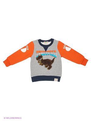 Джемпер Kidly. Цвет: серый, оранжевый