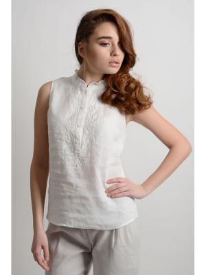 Блузка LINO RUSSO. Цвет: белый
