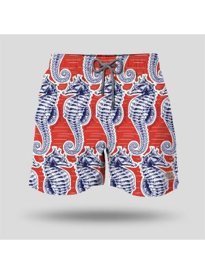 Шорты пляжные мужские JOHN FRANK. Цвет: красный, синий