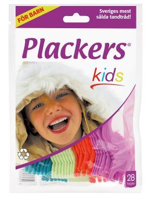 Флоссер Plackers Kids. Цвет: зеленый, фиолетовый