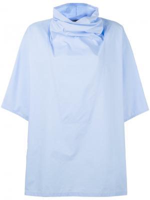 Блузка с воротником-хомут Ter Et Bantine. Цвет: синий