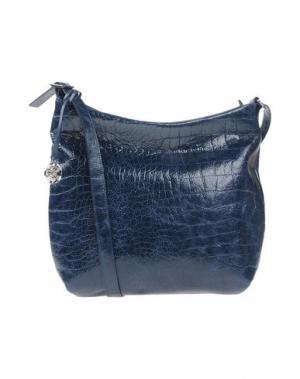 Сумка через плечо GIUDI. Цвет: темно-синий