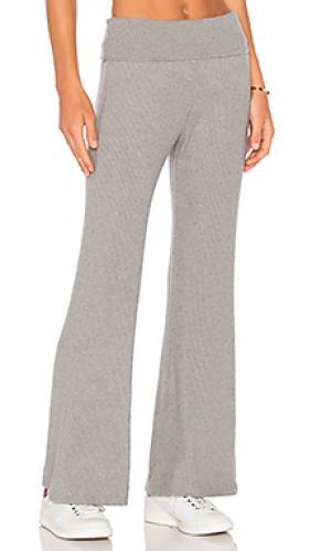 Спортивные брюки в рубчик thia three dots. Цвет: серый