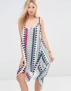 Anmol Пляжное платье мини с принтом. Цвет: мульти