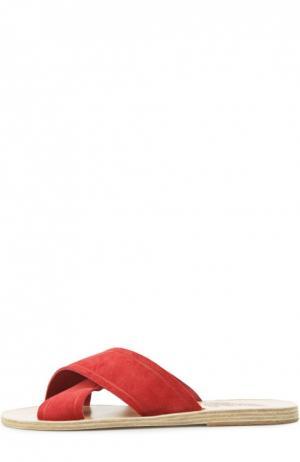 Замшевые шлепанцы Thais Ancient Greek Sandals. Цвет: красный