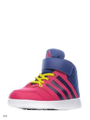 Кроссовки дет. спорт. Jan BS 2 mid I Adidas. Цвет: розовый, синий