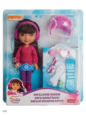 Даша и друзья Куклы с аксессуарами Mattel. Цвет: голубой, фуксия