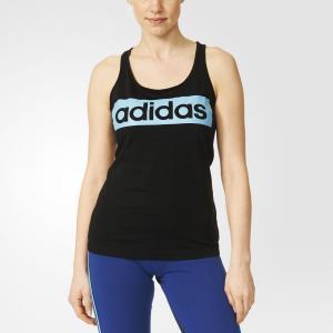 Спортивная майка ESS LINEAR  Athletics adidas. Цвет: черный