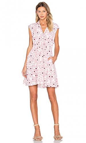 Платье-рубашка hollyhock kate spade new york. Цвет: розовый