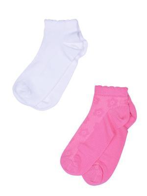 Носки, 2 пары Skinija. Цвет: розовый, белый