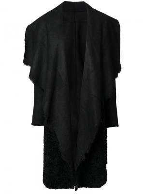 Свободное пальто Salvatore Santoro. Цвет: чёрный