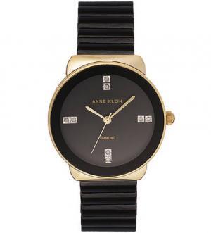 Часы с черным керамическим браслетом Anne Klein