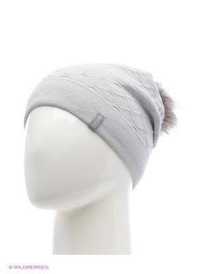 Биатрис Беркле шапка женская с помпоном Berkle. Цвет: серый