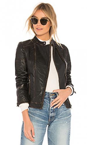 Кожаная куртка chelsea LAMARQUE. Цвет: черный