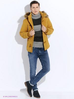 Куртка Oodji. Цвет: горчичный