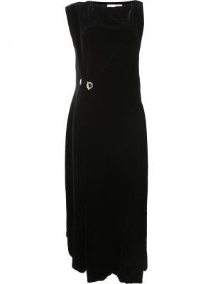 Асимметричное платье-шифт Monse. Цвет: чёрный