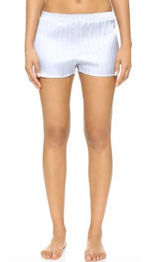 Пижамные шорты из шелка в тонкую полоску Else Lingerie. Цвет: голубой