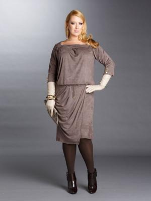 Платье Giani F. Цвет: серо-коричневый