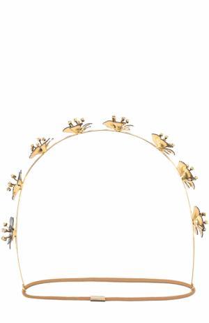 Повязка для волос с декором Jennifer Behr. Цвет: черный