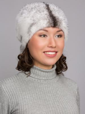 Шапка Slava Furs. Цвет: белый