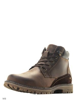 Ботинки Walrus. Цвет: коричневый
