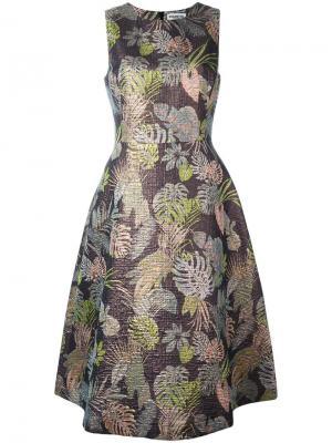Жаккардовое платье без рукавов Essentiel Antwerp. Цвет: многоцветный