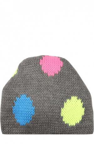 Вязаная шапка с узором Tak.Ori. Цвет: серый