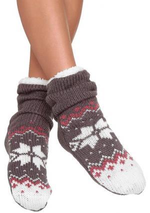 Теплые носки Arizona. Цвет: красный, темно-синий