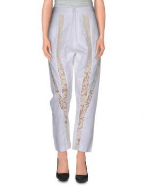 Повседневные брюки REBECCA MINKOFF. Цвет: слоновая кость