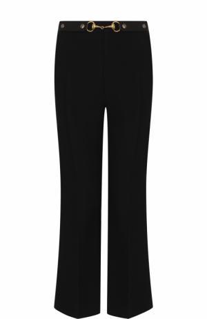 Укороченные расклешенные брюки со стрелками Gucci. Цвет: черный