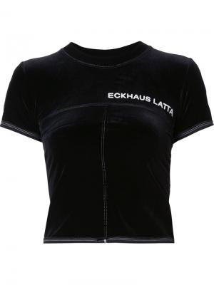 Cropped T-shirt Eckhaus Latta. Цвет: чёрный