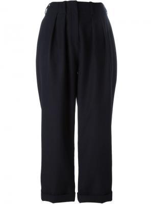 Укороченные брюки со складками Jay Ahr. Цвет: синий