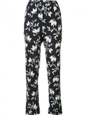 Креповые брюки Maxwell Ganni. Цвет: синий