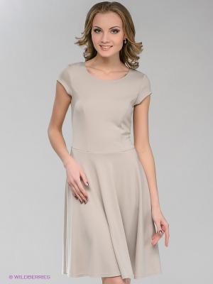 Платье Natali Silhouette. Цвет: бежевый