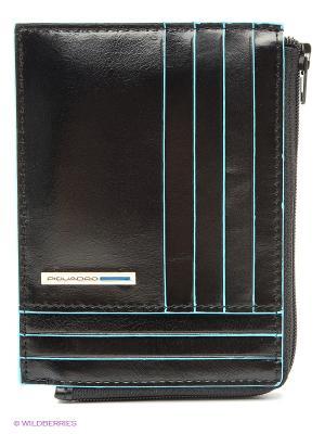 Чехол для кредитных карт PIQUADRO. Цвет: черный