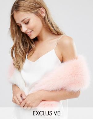 My Accessories Розовый шарф из искусственного меха. Цвет: розовый